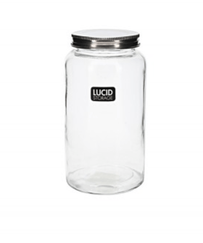 GLASS SPICE JAR WITH METAL LID 800ML