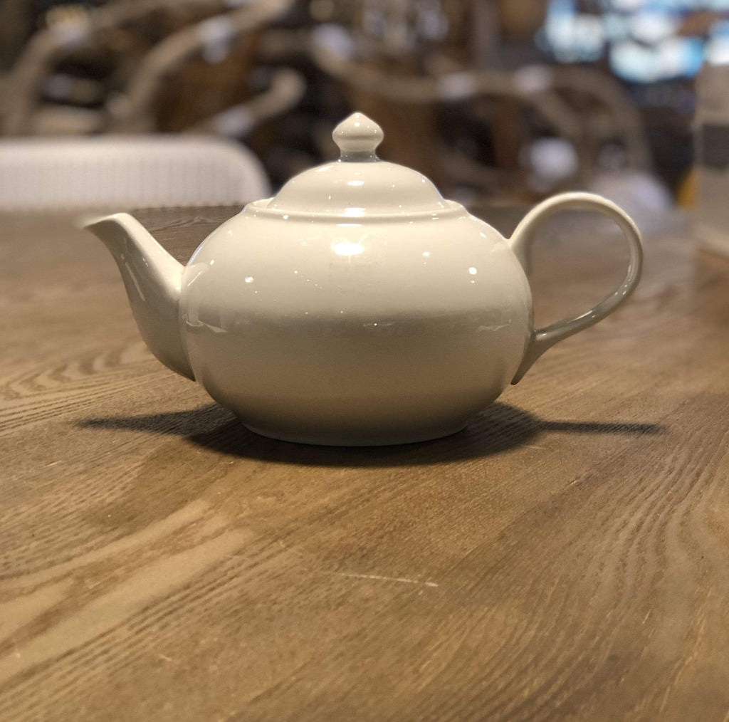 Large White Ball Teapot 27cm