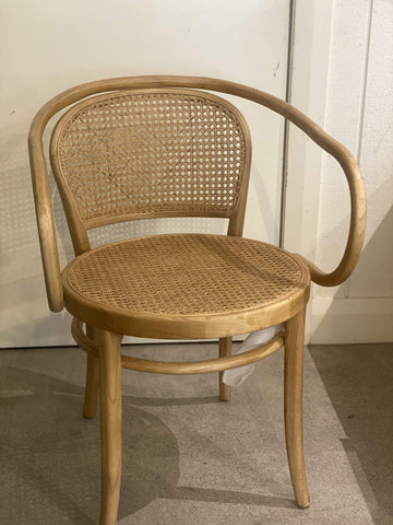 Natural Rattan Bentwood Carver Chair