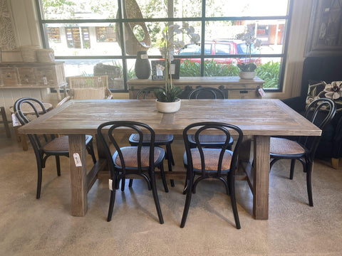 Old Elm Farmhouse Dining Table