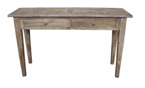 Parquetry Recycled Elm 2 Drawer Hall Table