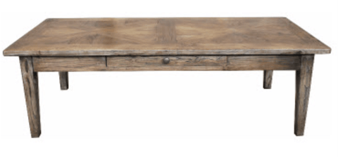 Parquetry Recycled Elm Coffee Table