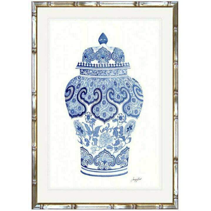 Blue and white china prints