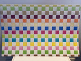 Rectangle PVC Checkered Placemat Assorted Colours