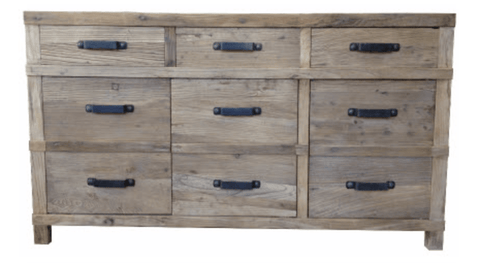Recycled Elm 3 Door 3 Drawer Sideboard 160x45x90cm