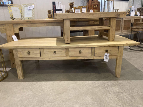 Recycled Elm 8 Drawer Coffee Table