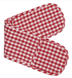 Gingham Red Checkered Double Oven Mitt