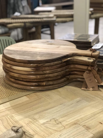 Round Acacia Paddle Serving Board LARGE