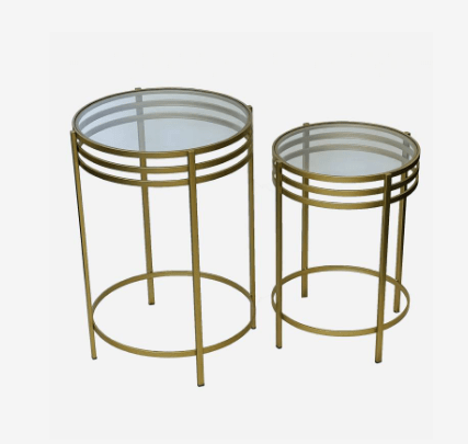 SIEBEN SET OF 2 SIDE TABLE