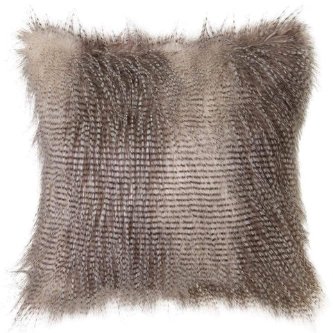 Speckled Owl Faux Fur Cushion 50x50cm Grey
