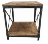 Wrought Iron and Recycled Oregon Side Table
