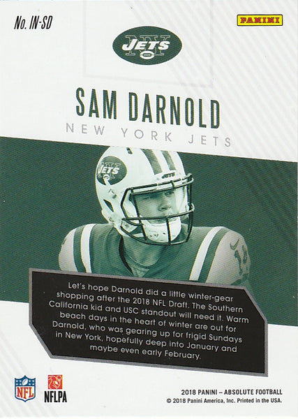 e545c3d5 2018 Absolute Introductions Spectrum Gold #IN-SD Sam Darnold - Football Card