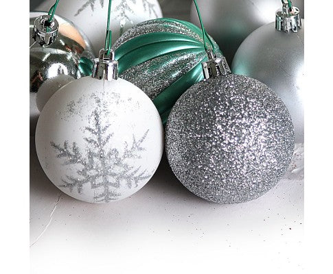 50pcs Christmas Baubles - Silver