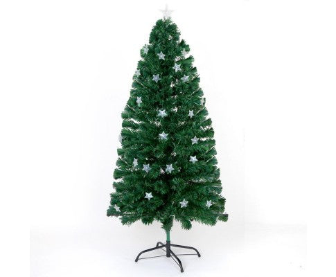 1.2M LED Optic Fibre Christmas Tree Multi Colour