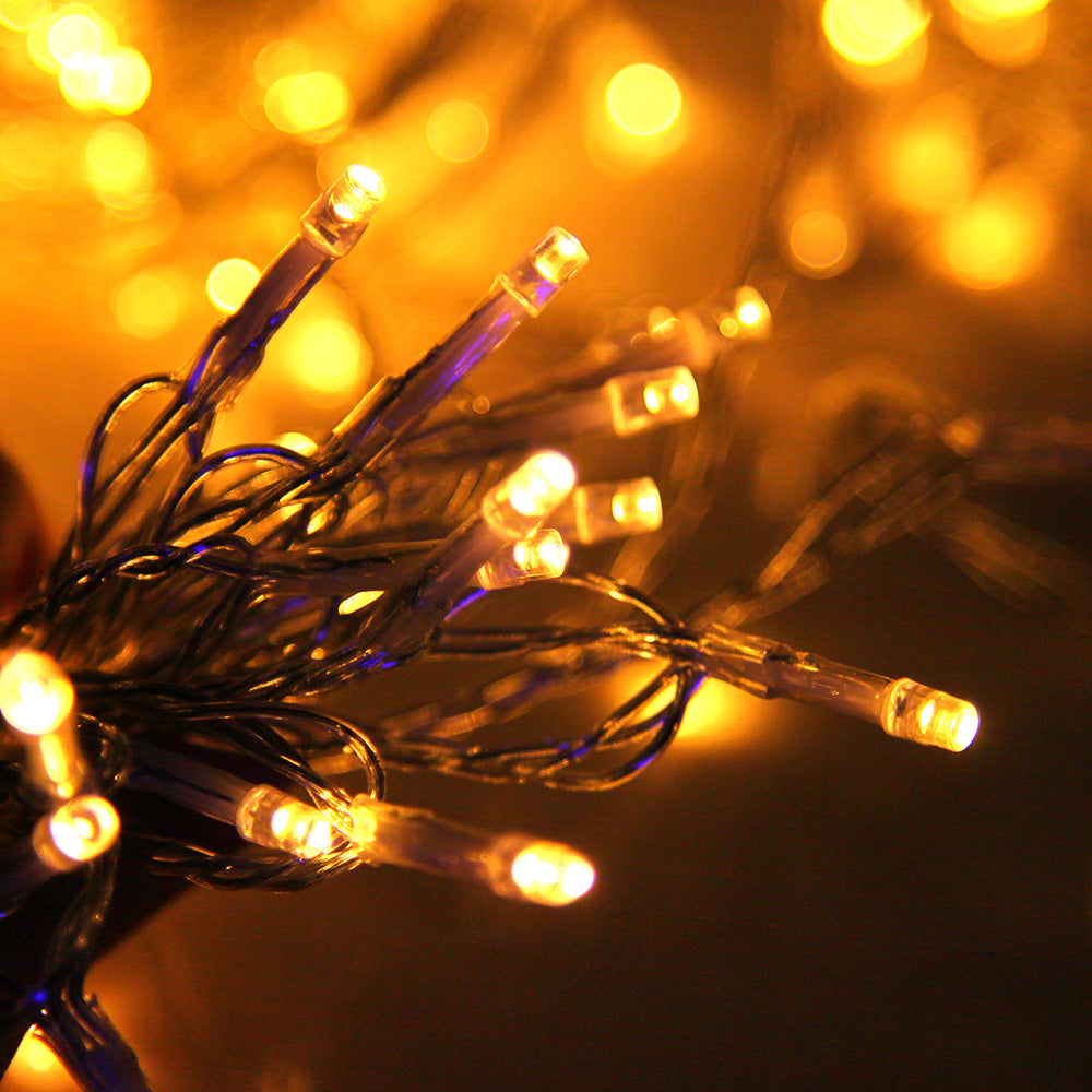 600 Christmas LED Curtain Lights - Warm