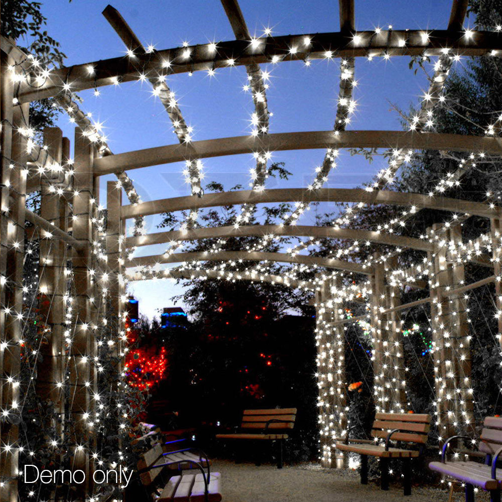 250 Christmas LED String Lights - White