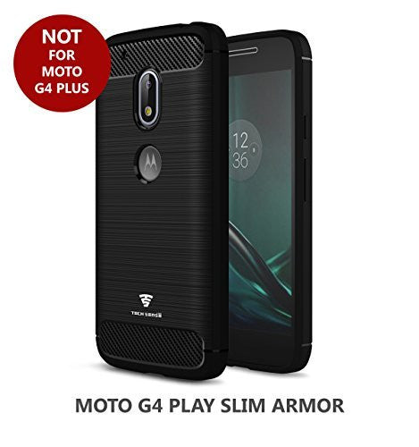 Tech Sense Lab (Australia) Slim Armor Case Shockproof With Carbon Fiber Finish For Moto G4 Play