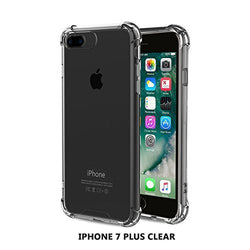 Armaguard Liquid Case For iPhone 7 Plus By Tech Sense Lab, Military Grade TPU & All Around Protection (Clear)