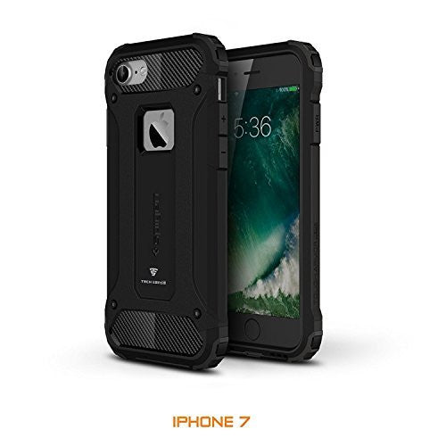 Tech Sense Lab (Australia) iPhone 7 Armaguard Classic Armor Case, Dual Layer, Shockproof And Easy Grip Design With Carbon Fiber Finish