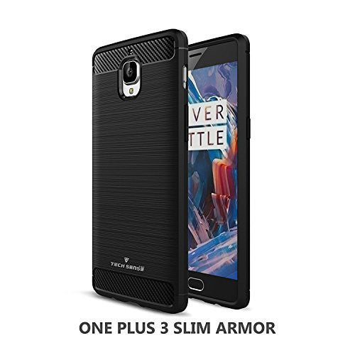 Tech Sense Lab (Australia) One Plus 3 Slim Armor Case Shockproof With Carbon Fiber Finish Shockproof With Carbon Fiber Finish