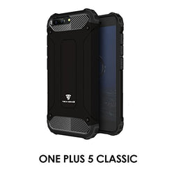 Tech Sense Lab (Australia) Armaguard Classic Armor , Dual Layer, Shockproof And Easy Grip Design With Carbon Fiber Finish For One Plus 5