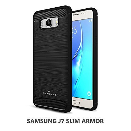 Tech Sense Lab (Australia) Samsung Galaxy J7 Slim Armor Case Shockproof With Carbon Fiber Finish Shockproof With Carbon Fiber Finish