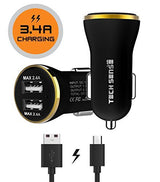3.4A Dual USB Car Charger by Tech Sense Lab® - Universal Car Charger