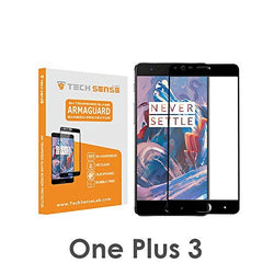 Tech Sense Lab (Australia) OnePlus 3 Edge To Edge 3D Premium Tempered Glass Screen Protector [9H] - Full HD, Shatterproof, Anti Scratch Screen Guard For One Plus 3