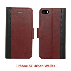 Tech Sense Lab (Australia) iPhone 5/5S/SE Faux Leather, Urban Wallet Case Lab With Kickstand feature And Card Slots, Military Grade TPU Holder & Effortless Double Magnetic Clasp