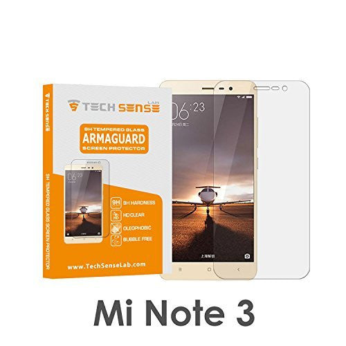 Tech Sense Lab (Australia) Premium Tempered Glass Screen Protector [9H] - Full HD, Shatterproof, Anti Scratch Screen Guard For Xiaomi Redmi Note 3