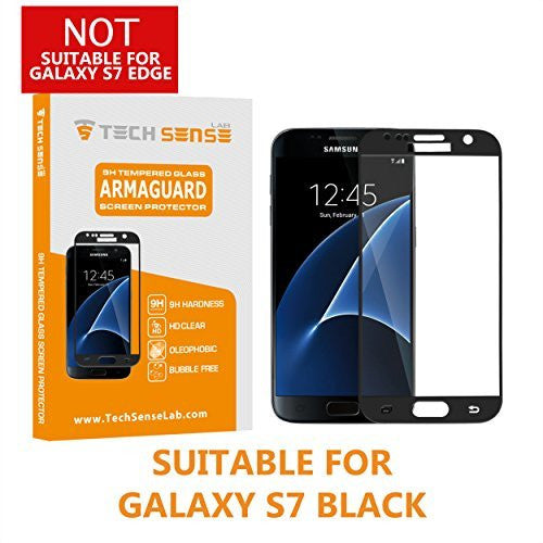 Tech Sense Lab (Australia) Samsung Galaxy S7 Edge To Edge 3D Premium Tempered Glass Screen Protector [9H] - Full HD, Shatterproof, Anti Scratch Screen Guard For Samsung Galaxy S7