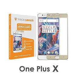 Tech Sense Lab (Australia) OnePlus X Edge To Edge 3D Premium Tempered Glass Screen Protector [9H], Full HD, Shatterproof, Anti Scratch Screen Guard For One Plus X ...