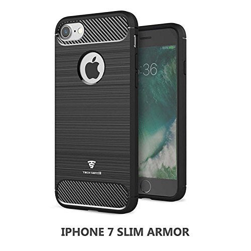 Tech Sense Lab Iphone 7 Slim Armor Case Shockproof With Carbon Fiber Finish Shockproof With Carbon Fiber Finish