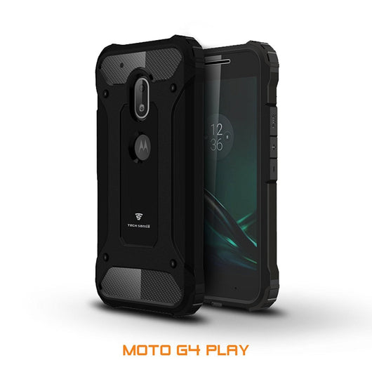 Tech Sense Lab (Australia) Moto G4 Play Armaguard Classic Armor Case, Dual Layer, Shockproof And Easy Grip Design With Carbon Fiber Finish. Not For Moto G4 Or Moto G4 Plus.