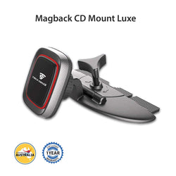 Tech Sense Lab (Australia) Magback CD Mount Luxe -Magnetic Car Mobile Phone Holder, one Touch 360° Rotating. Upgraded 2018 Model for All Smartphones