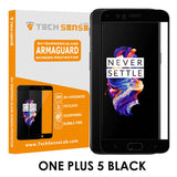 Tech Sense Lab (Australia) OnePlus 5 Edge To Edge Premium Tempered Glass Screen Protector [9H] - Full HD, Anti Scratch Screen Guard For One Plus 5 (Black)