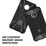 Tech Sense Lab (Australia) Moto G5 Plus Armaguard Classic Armor Case By Tech Sense Lab, Dual Layer, Shockproof And Easy Grip Design With Carbon Fiber Finish