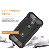 Tech Sense Lab (Australia) Moto G Plus 4th Gen Armaguard Classic Armor Case, Dual Layer, Shockproof And Easy Grip Design With Carbon Fiber Finish