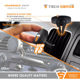 Tech Sense Lab (Australia) MagBack Airvent, Magnetic Mount for Android Phones, iPhones GPS with strong Neodymium Magnets, rotating head and Quick Snap Technology. Perfect for Samsung, HTC, Xiaomi Blackberry mobile devices. Satisfaction Guaranteed