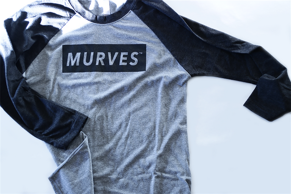 MURVES black/grey baseball tee (muscles & curves)