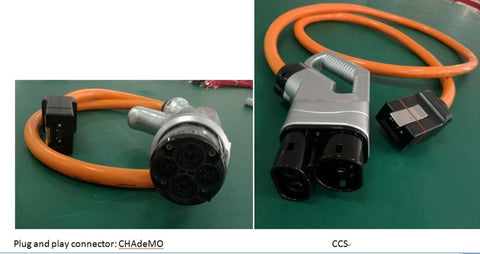 Portable Chademo Or Ccs Combo Dc Quick Charger Evse Adapters