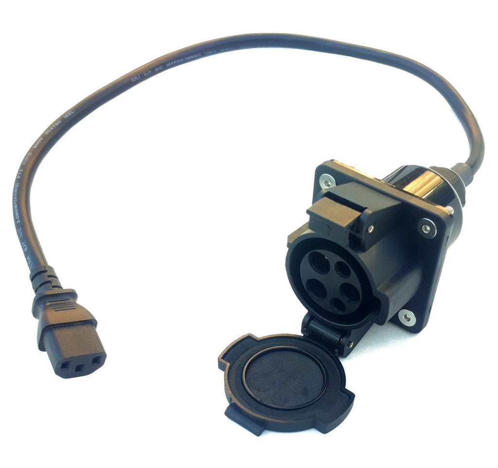 J1772 to C-13 Adapter for Electric Motorcycle/Scooter