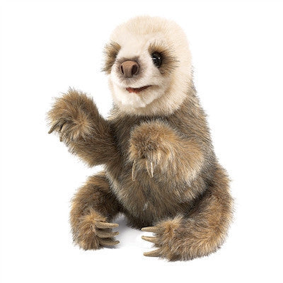 Baby Sloth Hand Puppet Folkmanis-Puppet-Ten Octaves
