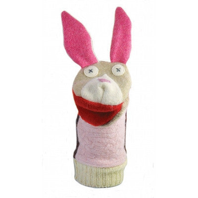 Bunny Wool Puppet-Puppet-Ten Octaves