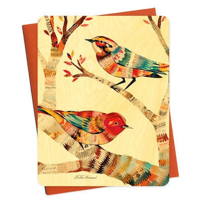 Dolan Warbler Wood Greeting Card-Greeting Card-Ten Octaves