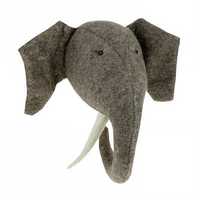 Elephant Head w/Tusks Handmade Wall Decor-Wall Decor-Ten Octaves