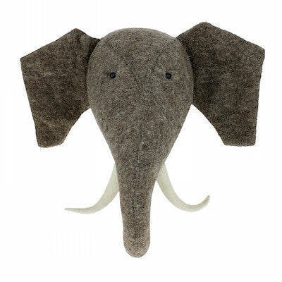 Elephant Head w/Tusks Handmade Wall Decor-Ten Octaves