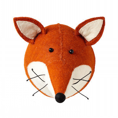 Fox Head Handmade Wall Decor-Wall Decor-Ten Octaves