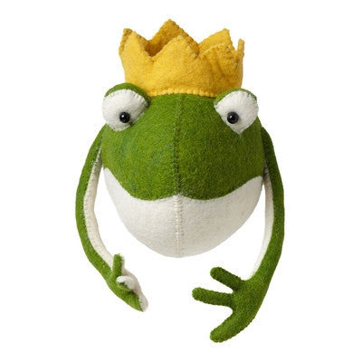 Frog Prince Head Handmade Wall Decor-Wall Decor-Ten Octaves