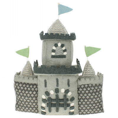 Grey Boy Castle Wall Decor Handmade-Wall Decor-Ten Octaves
